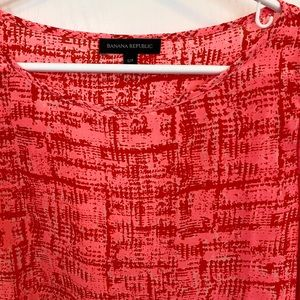 Banana Republic bright pink print blouse (EUC)